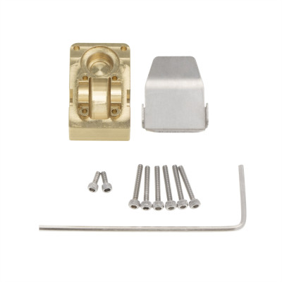 Axial SCX24 Brass Counterweight Cup and Armor Guard Plate 1set
