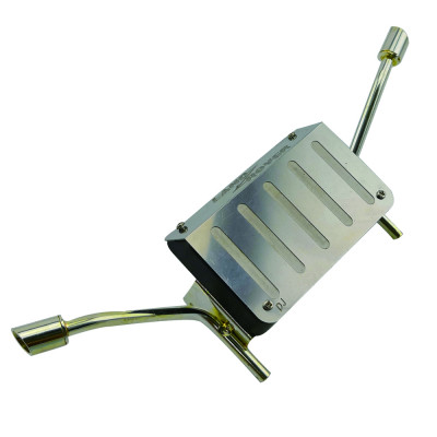 Metal Oil Tank and Exhaust Pipe For TRX-4  - Silver for Land Rover body
