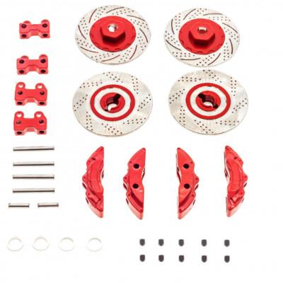 TRAXXAS TRX4 1/10 Aluminum Alloy Wheel Rim Brake Disc Red