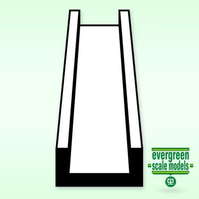 EVERGREEN - Kanalprofil 6.3x350 mm (3) - EVERGREEN