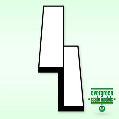 EVERGREEN - Z-Profil 6.3 mm 35cm lång (2) - EVERGREEN