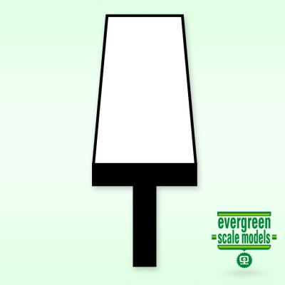 EVERGREEN - T-Profil 1.8x1.8x0.6mm 35cm lång (4) - EVERGREEN