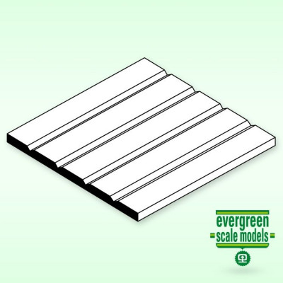 EVERGREEN - Panel-V Skiva 1x150x300mm 1.5 space - EVERGREEN