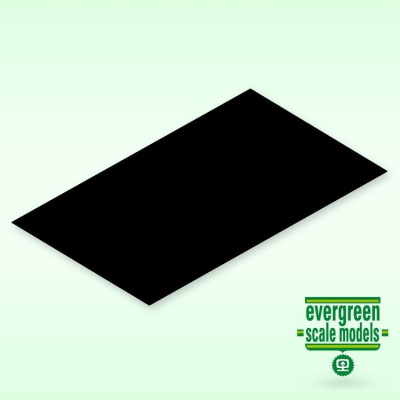 EVERGREEN - Skiva 0.25x150x300mm svart (4) - EVERGREEN