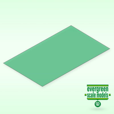 EVERGREEN - Skiva Grön transparent 0.25x150x300 mm (2) - EVERGREEN