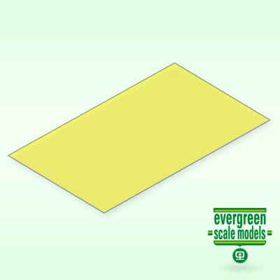 EVERGREEN - Skiva Gul transparent 0.25x150x300 mm (2) - EVERGREEN