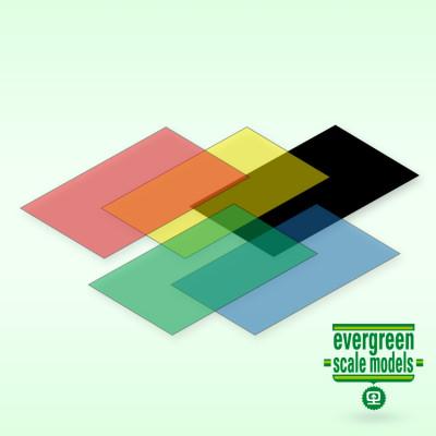 EVERGREEN - Skivor blandade färger 0.25x150x300 mm (5) - EVERGREEN