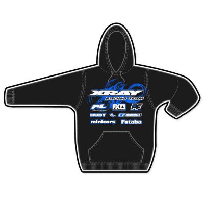XRAY - Hoodtröja 8-10år Svart Minicars/XRAY 2014 - XRAY