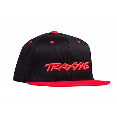 TRAXXAS - Keps Rak Skärm Svart/Röd Traxxas Logo - TRAXXAS