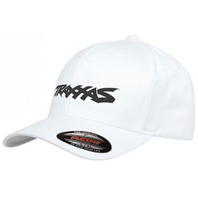 TRAXXAS - Keps Svängd Skärm Vit Traxxas Logo L-XL - TRAXXAS