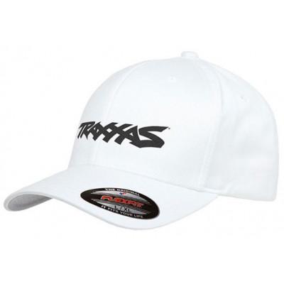 TRAXXAS - Keps Svängd Skärm Vit Traxxas Logo S-M - TRAXXAS