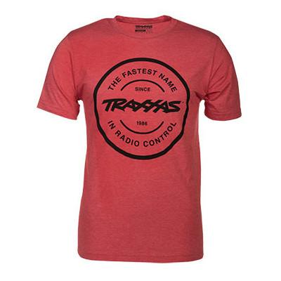 TRAXXAS - T-shirt Röd Rund Traxxas-logga L (Premium) - TRAXXAS