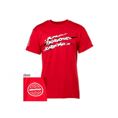 TRAXXAS - T-shirt Röd Traxxas-logga Riven XL - TRAXXAS