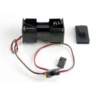 TRAXXAS - Batterihållare med Strömbrytare (Gummiskydd) - TRAXXAS