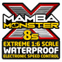 Mamba Monster X 8S 33,6V 1717-1260KV Sensor Combo-CASTLE CREATION-010-0165-03
