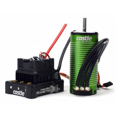 CASTLE CREATION - Mamba Monster X 8S 33,6V 1520-1650KV Sensor Combo - CASTLE CREATION