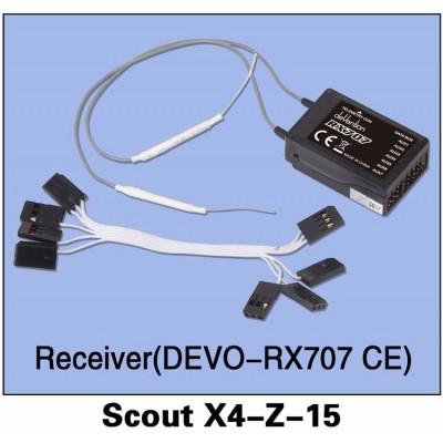 WALKERA - Mottagare DEVO-RX707CE Scout X4-Z-15 - WALKERA